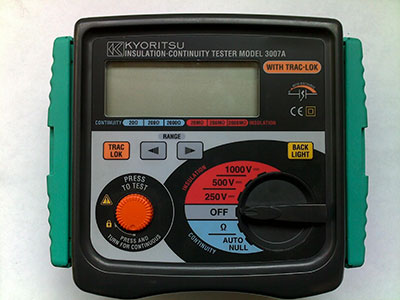 Insulation Tester 250v to 1000v 40 CAL-CM2